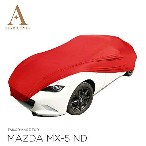 Star Cover AUTOABDECKUNG ROT Mazda MX-5 ND SCHUTZHÜLLE ABDECKPLANE SCHUTZDECKE VOLLGARAGE