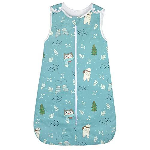 Viedouce Sacos de Dormir para Bebé,Saco de Dormir de Algodón Bio para Bebés,Súper Suave,Longitud 80cm para Niño Niña(2.5Tog,3-18 Meses)