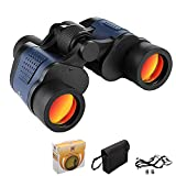 Binoculars, 60 x 60 HD Professional Binoculares Magnificación con Low Light Night Vision for Football, Safari, Bird Watching, Hunting, Climbing, Waterproof, fully Coated Lens, with Carry Bag, Strap