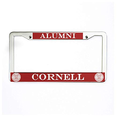 Cornell University Alumni High-Grade Stainless Steel Car License Plate Frame 2 Holes Rust-Proof for Auto Car