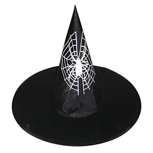 Aibccr Halloween Horror Element Muster Lampe Stil Hexe Urlaub Party Abschlussball Hut