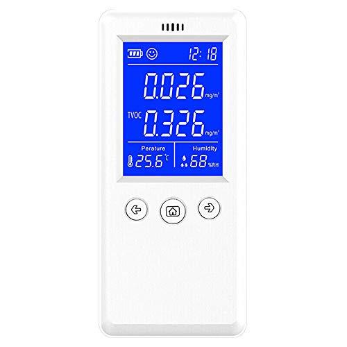 XFHLL Tragbarer Luftdetektor, Detektor Meter Luftqualität Analyzer Partikel Tester Detektor Thermometer Air Quality Analyzer, Für Lufterkennung Für Home-Office-Auto Usw.