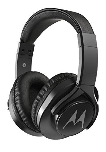Motorola Pulse 3 Max Over Ear Wired Headphones with Alexa (Black)