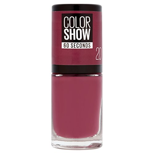 Maybelline New York Color Show, Esmalte de Uñas Secado Rápido, Tono: 020 Blush Berry