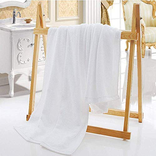 KCGNBQING Toalla, Blanco sólido Grande Toalla de baño del Espesamiento 100% algodón Adult Hotel Toallas Suaves Agua cómodo Absorción Toalla de Cara, Toalla de baño Grande, 80x180cm 600g