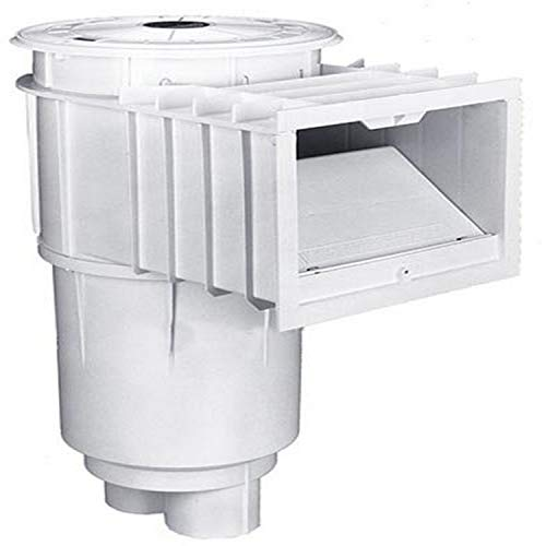 Sta-Rite 08650-6404 U-3 SwimQuip Inground Skimmer for Concrete Pools, 2 Inch Slip with 1 1/2 Inch Slip Reducers, Grey w/ Grey Lid & Frame, without Float