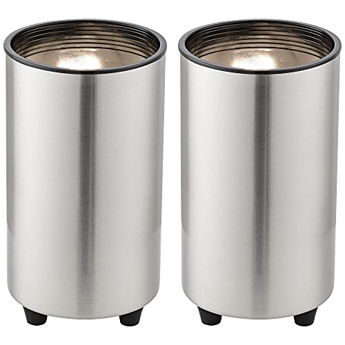 Brushed Nickel 6 1/2' High Accent Can Spot Lights Set of 2 - Pro Track