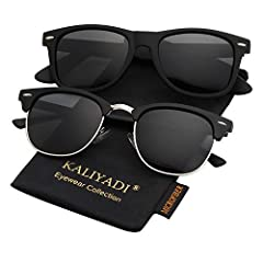 ★ PROTECT YOUR EYES WITH STYLE ▶ We created our polarized sunglasses to PROTECT your eyes while you are out under the harmful sun UV rays and to make you look IRRESISTIBLE at the same time, because we know that Health and Style are both important. Wh...