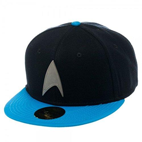 Star Trek Metal Badge Blue Snapback Baseball Cap
