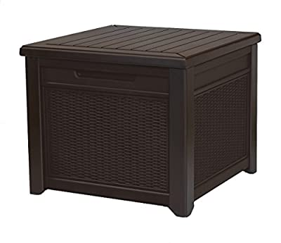 Keter Cube Wood-Look 55 Gallon All-Weather Garden Patio Storage