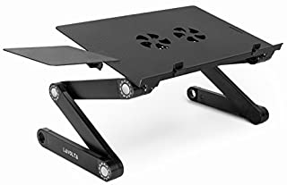 Lavolta Folding Laptop Table Desk Tray Stand with Mouse Board and Cooling Pad - Black (B007CYBRF4) | Amazon price tracker / tracking, Amazon price history charts, Amazon price watches, Amazon price drop alerts