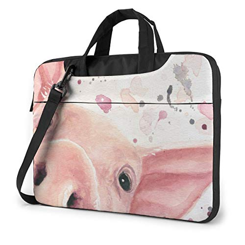 Laptop Case Computer Bag Sleeve Cover Watercolor Pig Waterproof Shoulder Briefcase 13 14 15.6 Inch
