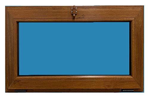 ECO-BLU Ventana PVC golpete 800x500 mm 1h Color Madera (Roble dorado)