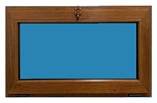 Ventana PVC golpete 800x500 1h Color Madera (Roble dorado)