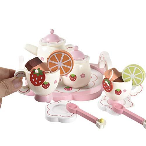 Kinder Teeservice Set Zubehör für die Kinderküche,Nachmittagstee Kinderhaus Tee-Set Spielhaus Kinder Küche Spielzeug