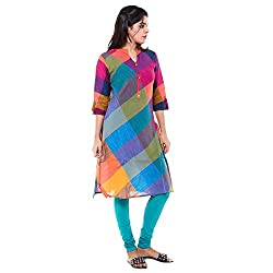 Cross Colors Candy Color Womens Top Cotton Kurti Womens Kurta - Multi Color