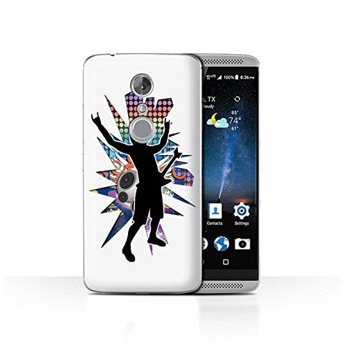 Handy Hülle kompatibel mit ZTE Axon 7/Axon 2 Rock Star Pose Rock n Roll Weiß Transparent Klar Ultra Dünne Handyhülle Hülle Cover