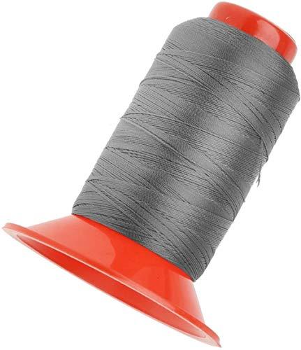 N /A - Hilo de tapicería extra fuerte para coser a máquina y a mano para uso en interiores o exteriores, multipropósito (gris)