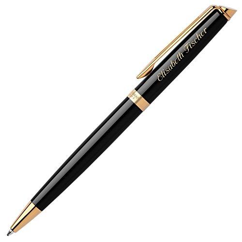 WATERMAN Kugelschreiber HEMISPHERE Essential Schwarz G.C. S0920670 mit persönlicher Laser-Gravur