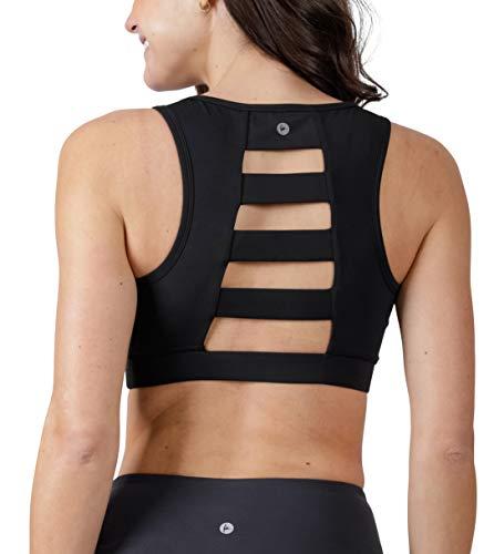 90 Degree By Reflex High Impact Full Support Ladderback Sports Bra - Black - Small