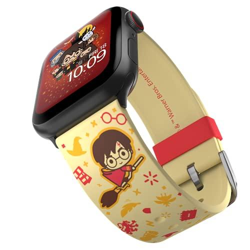 Harry Potter - Cartoon Edition – Cinturino in silicone con licenza ufficiale compatibile con Apple Watch, adatto a 38 mm, 40 mm, 42 mm e 44 mm