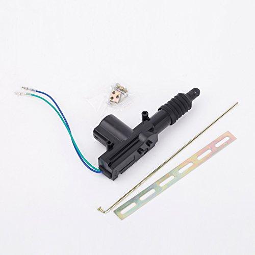 KKmoon - Motorino attuatore per chiusura centralizzata della portiera dell'auto, universale e resistente, a 2 cavi, da 12 V