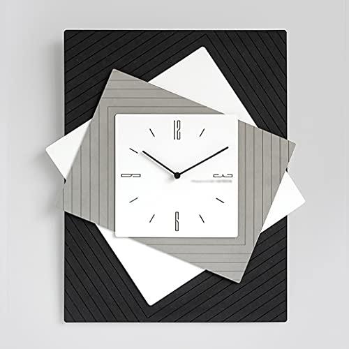 HEKRW Reloj de Pared Grande Diseño Moderno Sala de Estar Reloj silencioso Inicio Relojes de Pared nórdicos Decoración del hogar Decoración de la Pared (Color : Gray)