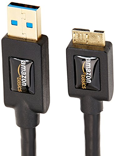 Amazon Basics, USB-3.0-Kabel, TypA auf Micro-B, mit vergoldeten Anschlüssen, 0.9Meter