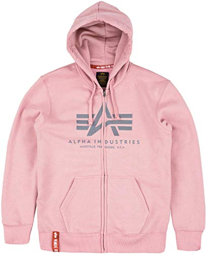 Alpha Industries Basic Zip Hoodie Rosa XL