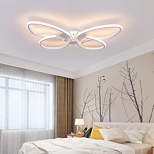 Ayuxiang Chandelier Las Luces de la lámpara de Techo de aleación de Aluminio Regulables con Control Remoto se aplican a la Oficina del balcón del Restaurante del Dormitorio