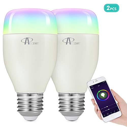 ACCEWIT Lampadina Wi-Fi Smart Bulb Dimmerabile LED Light 20000 ore di...