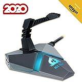 KLIM Bungee - Extensión para ratón - 3 x HUB USB 3.0 - Multifunción - Producto Retroiluminado - Organizador de Cables - 5 años de garantía - Nueva 2020 Versión - Negro