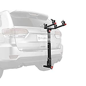 """Allen Sports Deluxe Locking Quick Release 2-Bike Carrier for 2"""" & 1 4 in. Hitch, Model 522QR"""