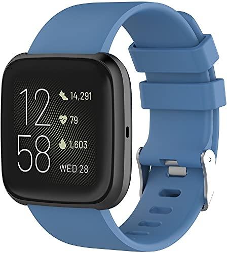 Gransho Compatible con Fitbit Versa 2 / Versa 2 SE/Versa Lite/Versa smartwatch Correa de Reloj, Banda de Reemplazo Silicona Suave Sports Pulsera (Pattern 2)
