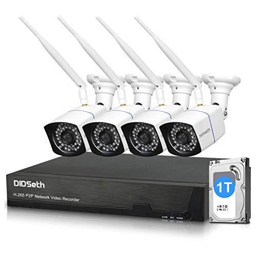 Juego de cámaras de vigilancia WiFi para exteriores 1080p 1TB...