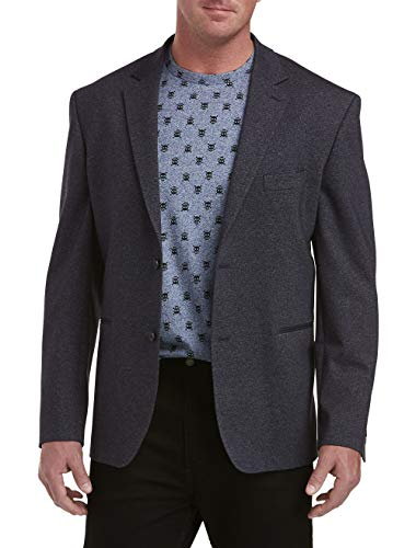 DXL Synrgy Big and Tall Textured Knit Sport Coat, Navy, 3XLT