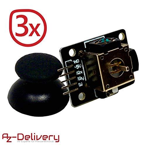 AZDelivery 3 x KY-023 Módulo Joystick para Arduino UNO R3 con eBook incluido