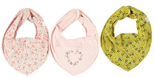NAME IT * 3er PUNKTE Set Mädchen ~ zur Auswahl ~Baby Dreieckstuch Halstuch Lätzchen 3 Stück (Set Blumenherz)