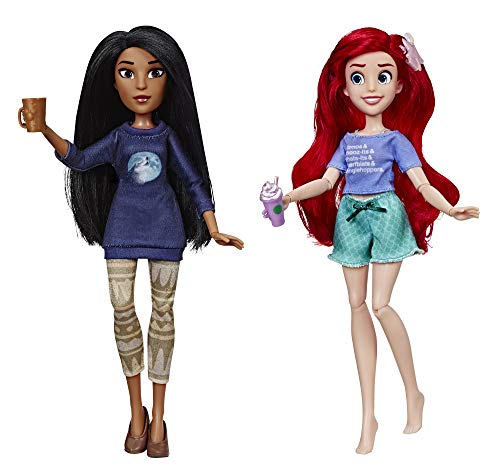 Disney Princess Ralph Breaks The Internet Movie Dolls, Ariel & Pocahontas Dolls with Comfy Clothes & Accessories