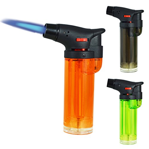 Best Review Of Gibson 3 Pack Maxi Torch Jet Flame Refillable Butane Lighter Bundle (One of Each Colo...