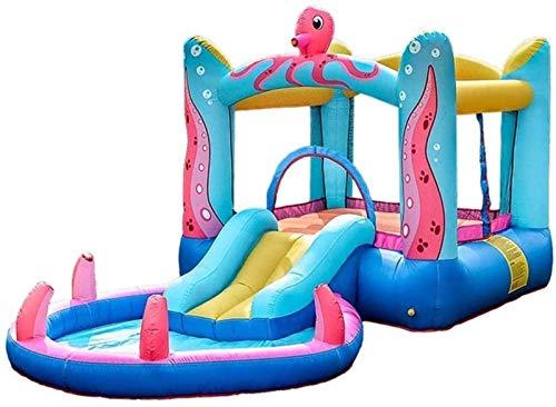 SGSG Juguetes para bebés Castillos hinchables, Castillo Inflable para niños, Juguetes deslizantes para niños, Trampolín Inflable para Juegos Infantiles, para Interiores y Exteriores