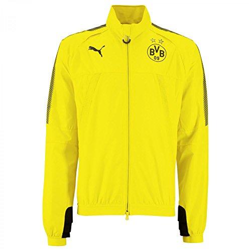 PUMA Herren Borussia Dortmund Stadium Vent Thermo-r Jacke, gelb/Schwarz, XL-56/58