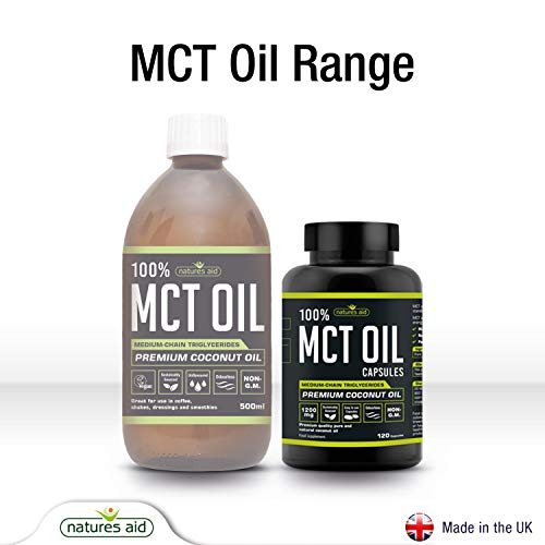 Natures Aid MCT Oil Capsules, 120 Capsules, 1200 mg