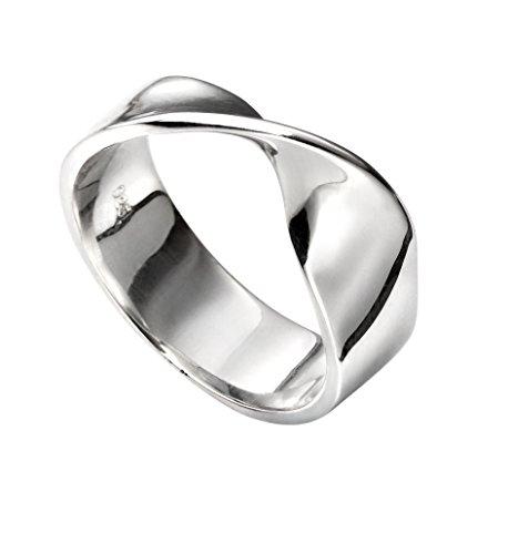 TF Schlichter gedrehter Ring, Sterling-Silber 925 Größe 56 (17.8) - Damen
