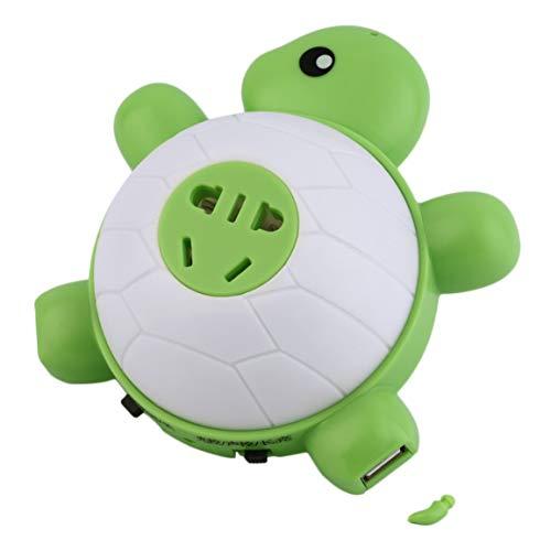 Turtle Voice Control 2 ports USB Socket Charger Night Light Baby Kids Sleep