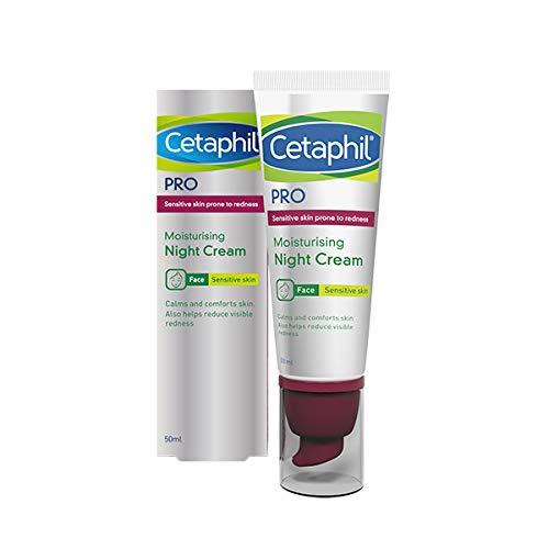 Cetaphil Pro Sensitive Feuchtigkeitsspendende Nachtcreme für Rötungen oder zu Rosacea neigende Haut, 50 ml