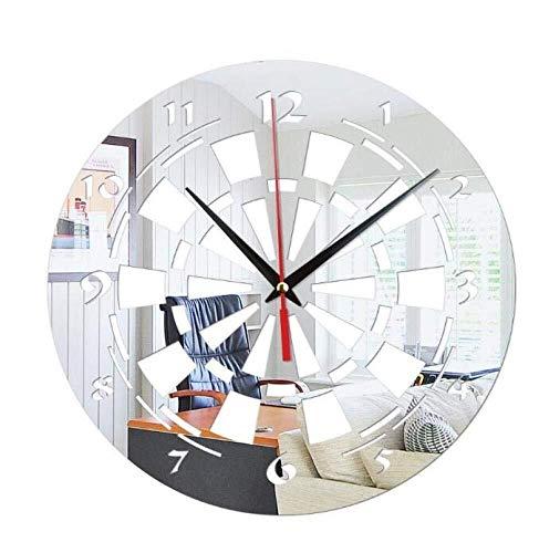 WHSS 3D Acrílico Creativo Reloj De Pared Dardos Objetivo Decorativo Reloj De Pared Espejo Reloj De Pared