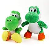 XUNLEI 2 Piezas Kawaii Super Mario Muñeco De Peluche Dragón Verde Felpa para Niños 28-30Cm