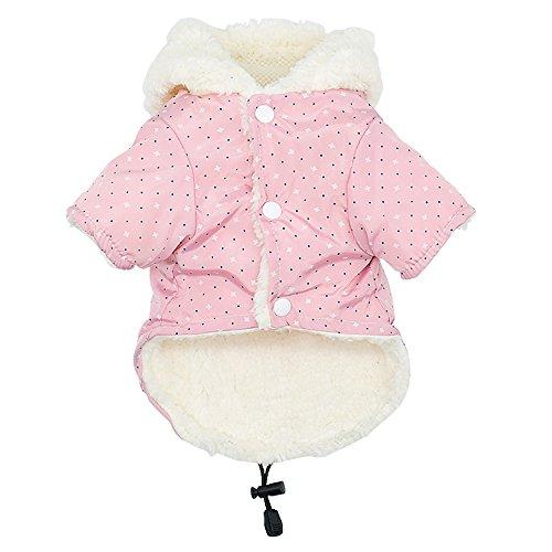 RC GearPro Cold Weather Dog Coat Winter Fleece Pet Vest Waterproof Windproof Puppy Jacket for Small...
