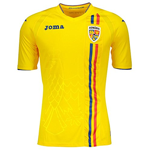 Joma 2018 – 2019 Romania Home Football Shirt, Uomo, N9000 Iii, Small - 36-38' Chest